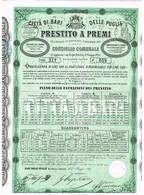 Obligation Ancienne -  Citta Di Bari Delle Puglie - Prestito A  Premi - Titulo De 1869 - - Actions & Titres
