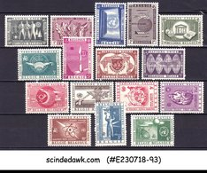 BELGIUM - 1958 UNITED NATIONS ISSUES SCOTT#516-525, C15-C20 - 16V - MINT NH - Stamps