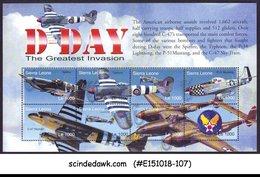 SIERRA LEONE - 2004 D-DAY THE GREATEST INVASION / AVIATION - MIN/SHT MNH - Sierra Leone (1961-...)