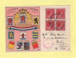Luxembourg - Journee Du Timbre - 28 Juillet 1946 - Bloc De 4 - Luxemburg