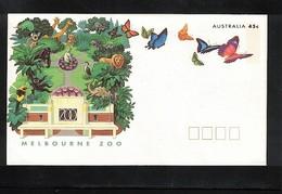 Australia Butterflies Interesting Postal Stationery Letter - Papillons