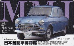 Télécarte Japon / 110-011 - MUSEE - VOITURE - TOYOTA - MOTOR CAR MUSEUM - Japan Phonecard - 76 - Voitures