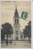 18 TORTERON . L'église Animée , édit : Chevrier , écrite En 1908 , état Extra - Autres Communes