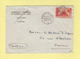 Luxembourg - 2-10-1956 - Destination Belgique - Luxemburg