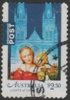 "AUSTRALIA - DIE-CUT-USED 2017 $2.30 Christmas, International - ""Lights Of Christmas"" - 2010-... Elizabeth II"