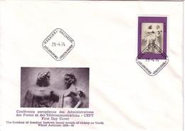 FINNLAND MI-NR. 749 FDC EUROPA 1974 - RELIEF VON AALTONEN - Europa-CEPT