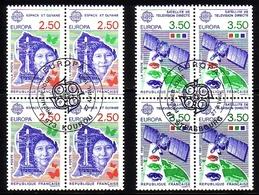FRANKREICH MI-NR. 2834-2835 O EUROPA 1991 - EUROPÄISCHE WELTRAUMFAHRT - 1991