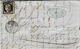 1849- Lettre De MARSEILLE ( Bouches Du Rhône ) Cad T15 Affr? N°3 Grille - Postmark Collection (Covers)