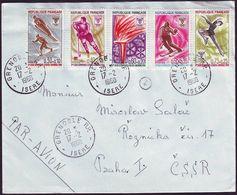 France - 1968 E - Winter Olympic Games 1968 - Letter - Winter 1968: Grenoble