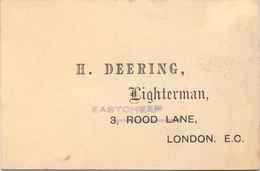 Visitekaartje - Carte Visite - Business Card - Lighterman - H. Deering - London - Cartes De Visite