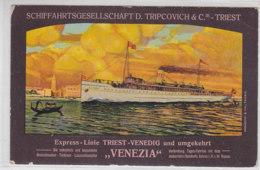 Schiffahrtgesellschaft D.Tripcovich & C. - Triest - ... VENEZIA - 1914 - Piroscafi