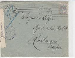Zensurbrief Emmerich Aus LEEUWARDEN 26.10.16 Nach Rathenow/Preussen - Lettres & Documents