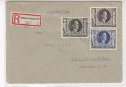 R-Brief Mit Netter Frankatur Aus LITZMANNSTADT C1 20.4.43 Nach Triptis - Allemagne