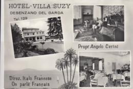 AK - Gardasee - Desenzano Del Garda - Hotel Villa Suzy - Mehrbild - 1950 - Italia