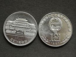 KOREA 1 Won 1987 Km18 UNC COIN NORTH SOCIALISM CURRENCY ASIA - Corea Del Norte