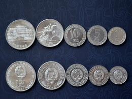 KOREA SET 5 COINS 1+5+10+50 Chon +1 Won UNC COIN NORTH SOCIALISM CURRENCY ASIA - Corea Del Norte