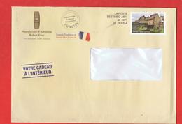 ENVELOPPE D`AUBUSSON - 23 - MANUFACTURE FOUR  , LETTRE PRE IMPRIME AVEC TIMBRE PERSONNALISE - DESTINEO MD7 CI 3977 - Postmark Collection (Covers)
