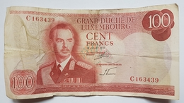 BILLET LUXEMBOURG - P.56a - 100 FRANCS - 15/07/1970 - GRAND DUC JEAN - PONT ADOLPHE - Luxembourg