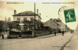 91....essonne...montgeron......carrefour Chalandray Et Rue De Paris - Montgeron