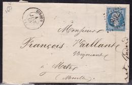 Aisne - Yvert N° 22 GC 1802 Sur LAC De Hirson De 1866 -pl - Storia Postale