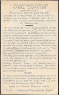 Eernegem, Vladsloo, Vladslo, 1945, Karel Cordier, Vanhoutte - Devotieprenten