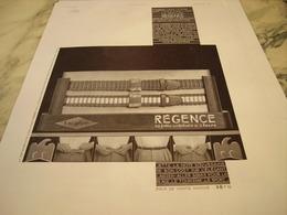 ANCIENNE PUBLICITE CEINTURE  REGENCE DE L AIGLON 1935 - Vintage Clothes & Linen