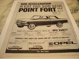 ANCIENNE PUBLICITE VOITURE OPEL KADETT 1964 - Voitures