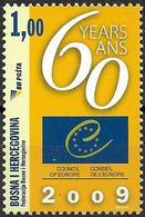 2009 Bosnien Herzegowina  Mi. 551**MNH   60 Jahre Europarat. - Europese Gedachte