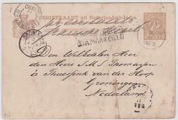 CP - Avec ENTIER POSTAL OBL. KLATEN/ 30.11.1890 + NED.INDIE / VIA MARSEILLE - Indonesia