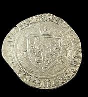 Blanc à La Couronne  -  Louis XI - France - 1461-83 - ° 19 Saint Lo  -  Billon - TB - 2,36gr. - - 1461-1483 Louis XI Le Prudent