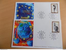 FDC (2) France : Conseil De L'Europe, Aurige De Delphes Et Niké - Strasbourg 18/09/1999 - 1990-1999