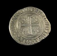 Blanc à La Couronne  -  Louis XI - France - 1461-83 - ° 19 Saint Lo  -  Billon - TB+ - 2,36gr. - - 1461-1483 Louis XI Le Prudent