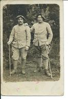 2 Chasseurs Alpins En 1912-carte Photo - Characters