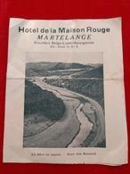 Publicité 1954, Hôtel De La Maison Rouge , Martelange , Frontière Belgo-Luxembourgeoise - Cartes Postales