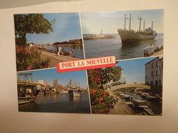 CPM AUDE 11 - PORT LA NOUVELLE MULTI VUES BATEAUX DE PÊCHE CARGO - Port La Nouvelle