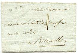 LOIR ET CHER De MER LSC Non Datée Marque Lenain N°2 Taxée 11 Pour BRUXELLES!!!! - Marcophilie (Lettres)