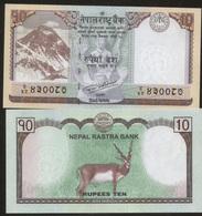 Nepal 10 Rupees 2017 Pick 77 UNC - Nepal