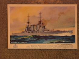 HMS KING GEORGE V - BERNARD CHURCH SALMON CARD - Warships