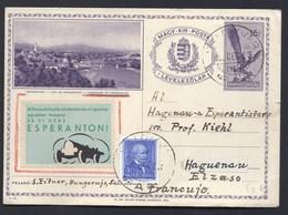 HONGRIE UNGARN HUNGARY SAROSPATAK ESPERANTO VIGNETTE SEAL HAGUENAU FRANCE - Esperanto