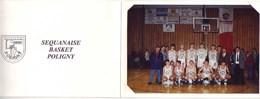 (39). Poligny. Jura. Sequanaise Basket Voeux 1997 Veritable Photo - Poligny