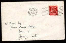 A6177) DR Besetzung Jersey Brief FDC 01.04.41 EF Mi.2 - Occupazione 1938 – 45