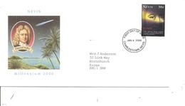 Espace - Comète De Halley ( FDC De Nevis De 2000 à Voir) - FDC & Commemoratives