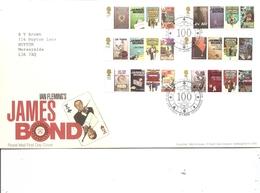Cinéma - James Bond 007 ( FDC De Grande-Bretagne De 2008 à Voir) - Cinema