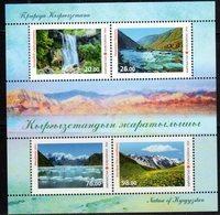 KYRGYZSTAN, 2018, MNH, NATURE OF KYRGYZSTAN, MOUNTAINS, WATERFALLS, SHEETLET - Geology