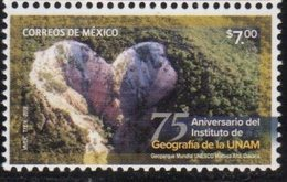 MEXICO, 2018, MNH, 75th ANNIVERSARY OF THE GEOGRAPHY INSTITUTE OF MEXICO UNIVERSITY, MOUNTAINS, GEOPARKS, 1v - Geography