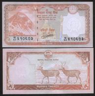 Nepal 20 Rupees 2016 Pick 78 UNC - Nepal