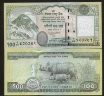 Nepal 100 Rupees 2015 Pick 80 UNC - Nepal