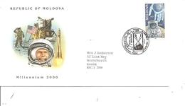 Espace - L'homme Sur La Lune ( FDC De Moldavie De 2000 à Voir) - FDC & Commemoratives