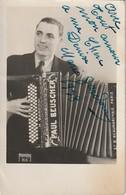 Rare Cpa Photo Dédicacée Par L'accordéoniste Mario Gardoni - Foto Dedicate