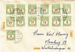 Luxembourg - Lettre De 1940 - Oblit Luxembourg  - Exp Vers Hamburg - Timbre Taxe - Oblit Dernier Jour 01.10.40 - Luxembourg